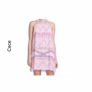 Cece fresco pink halter dress size (12) NWT
